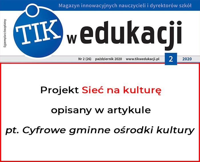 Miniatura artykułu - Magazyn TIK w edukacji