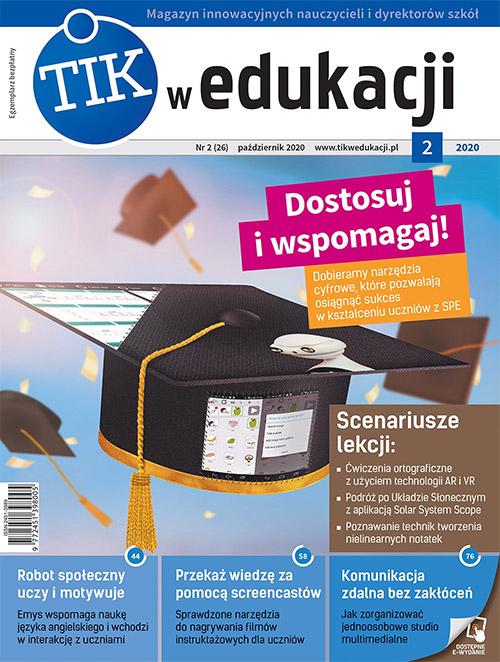 Okładka magazynu TIK w edukacji wydanie październik 2020